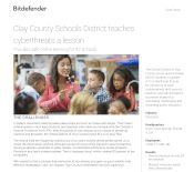 Clay County Schools District teaches cyberthreats a lesson