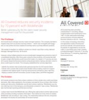 All Covered reduces security incidents by 70 percent with Bitdefender