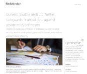 Quilvest Switzerland Ltd. further safeguards financial data against advanced cyberthreats