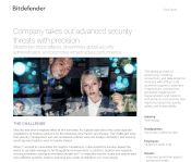 Bitdefender stops attacks, streamlines global security administration, and promotes infrastructure performance