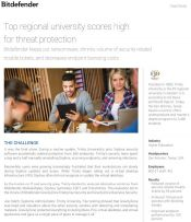 Top regional university scores high for threat protection