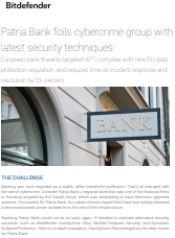 Patria Bank foils cybercrime group with latest security techniques