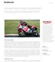 Yamaha Motor Europe impressed with handling, speed of Bitdefender Network Traffic Security Analytics