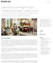 National furniture designer brings multiple security layers under one roof
