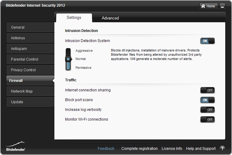 BitDefender Internet Security FW_Settings_ExpertSettingsTab_IDS_Normal.png