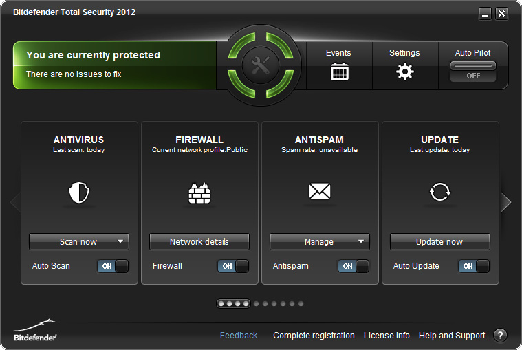 Click to view BitDefender Total Security 2012 15.0.27 screenshot