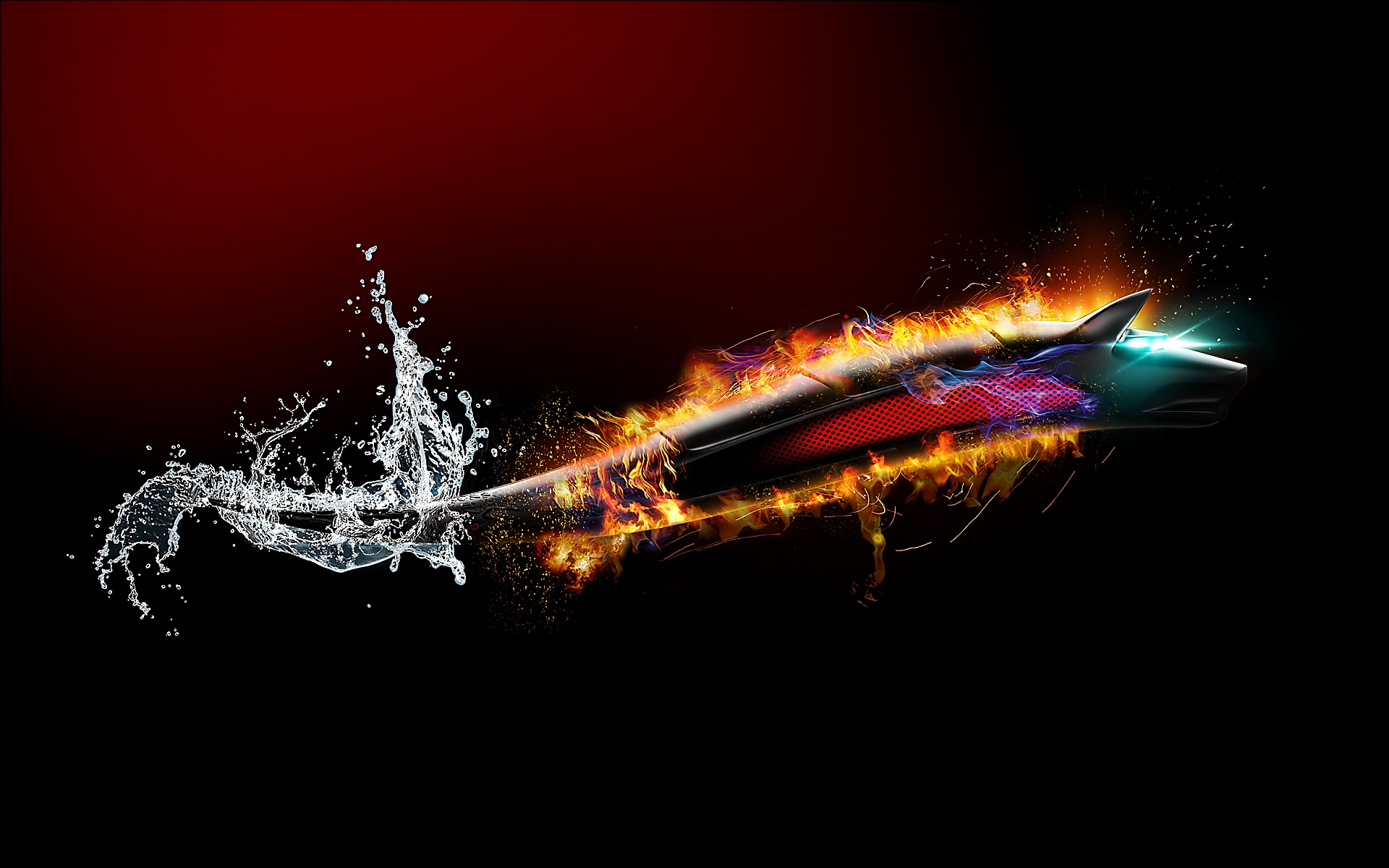 Bitdefender Fire Dragon-Wolf wallpaper