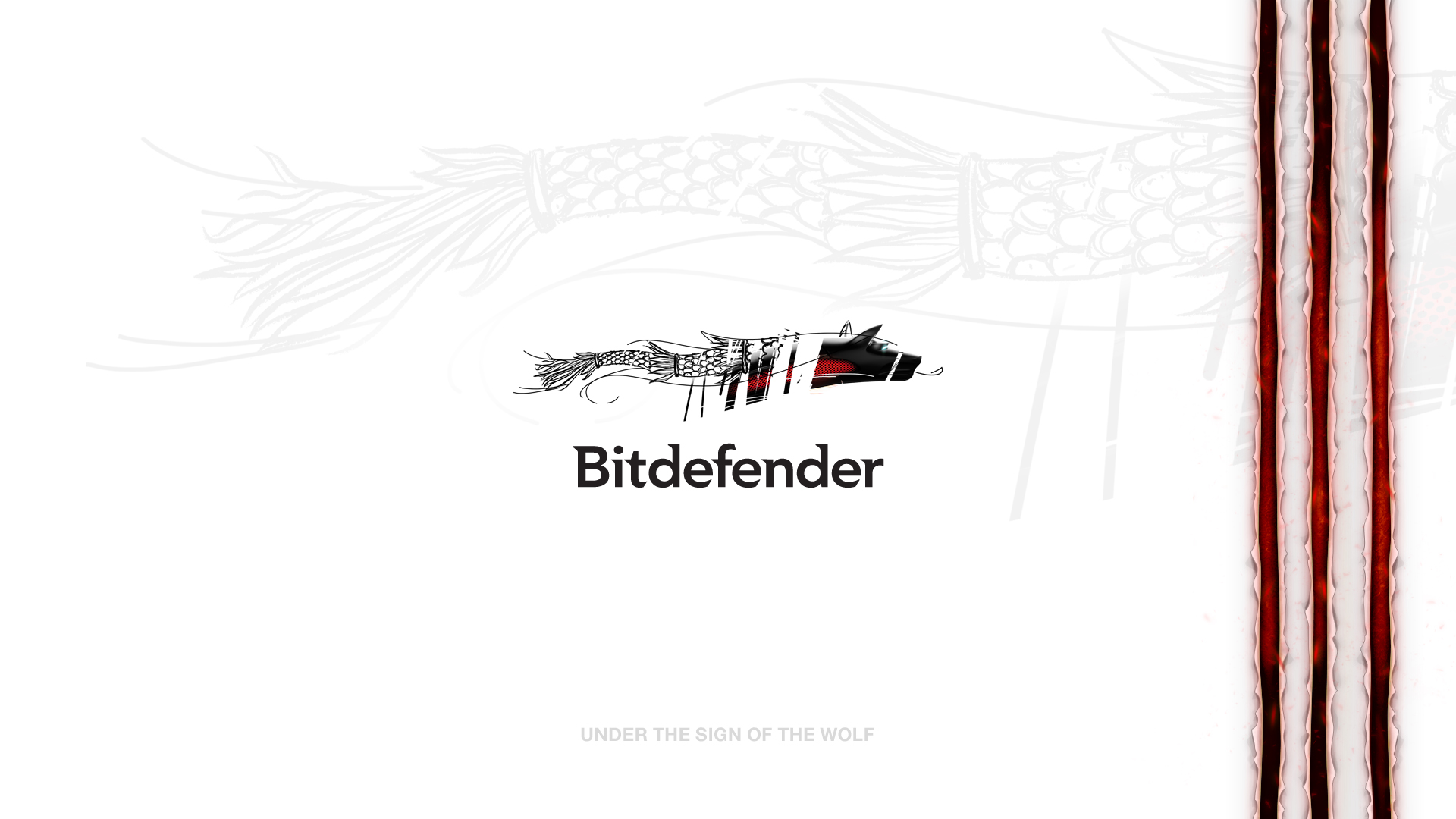 Bitdefender white wallpaper