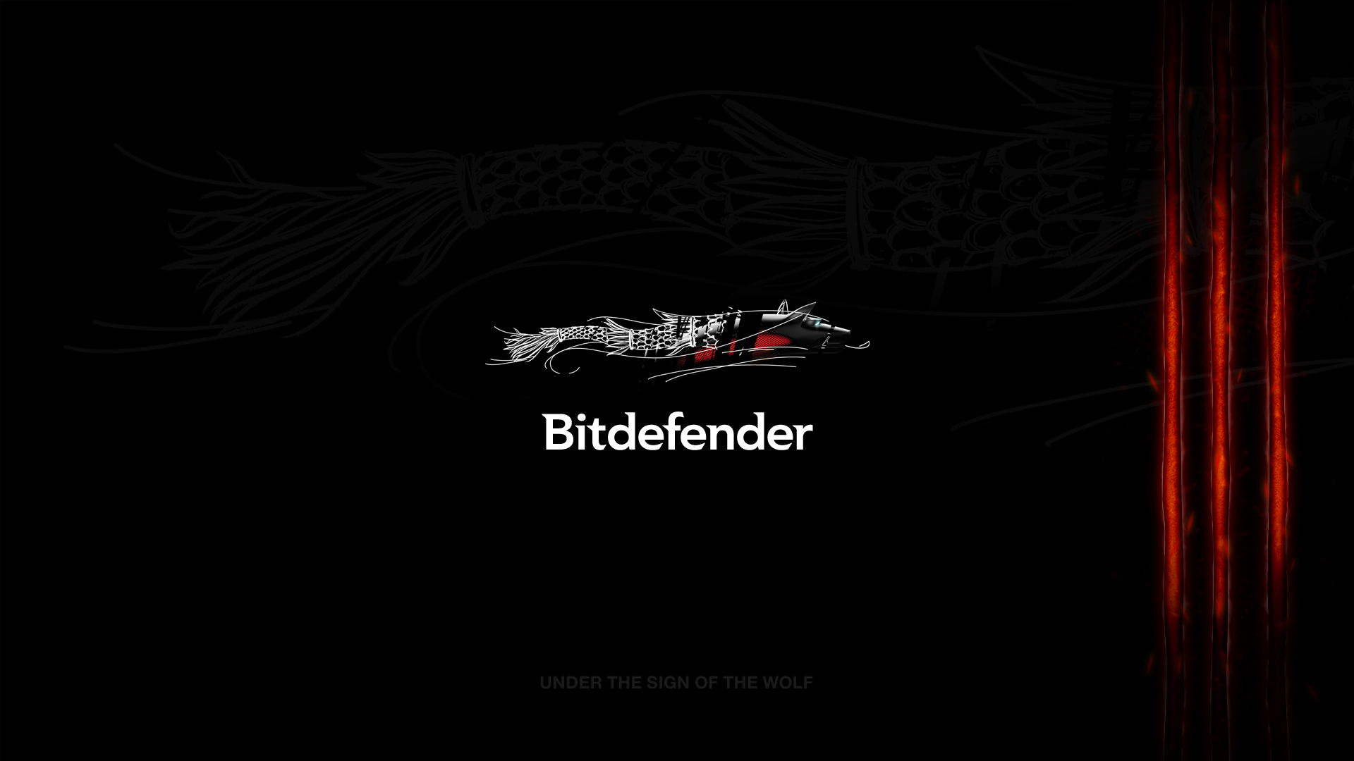 Bitdefender black wallpaper