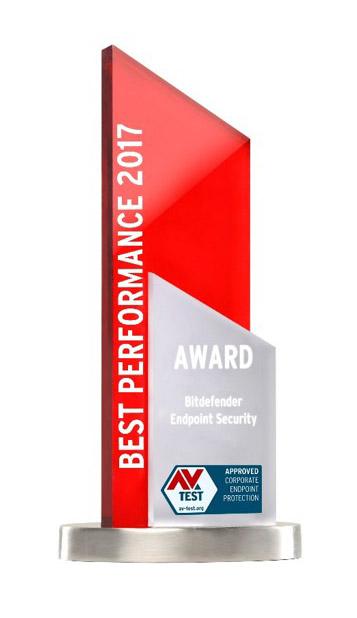 AV-Tests utmärkelse för bästa prestanda 2017