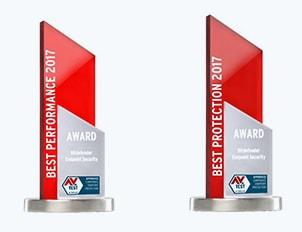 2017 Bästa prestanda och bästa skydd AV Test-utmärkelser
