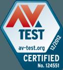 AV-Test Bästa skydd 2012 årlig utmärkelse