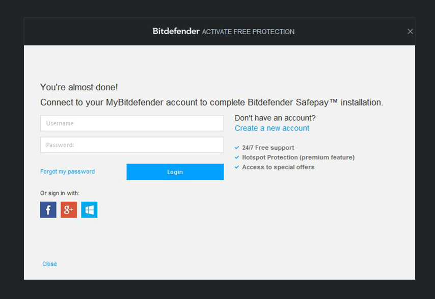 Bitdefender Safepay - Secure Browser - Wifi Hotspot Security