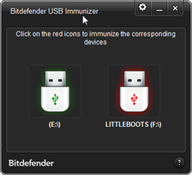 Bitdefender USB Immunizer software screenshot