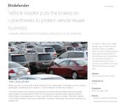 Vehicle reseller puts the brakes on cyberthreats to protect vehicle resale business
