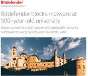 Bitdefender blocks malware at 500-year-old university