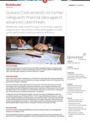 Quilvest (Switzerland) Ltd. further safeguards financial data against advanced cyberthreats