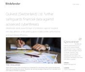 Quilvest Switzerland Ltd. further safeguards financial data against advanced cyberthreats