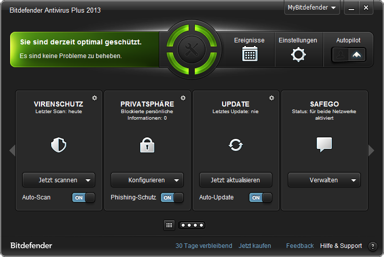 Screenshot vom Programm: Bitdefender Antivirus Plus