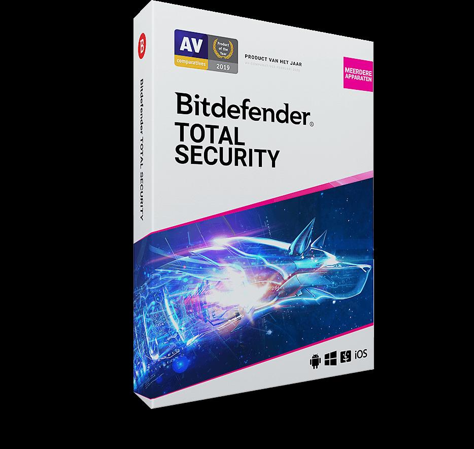 Bitdefender Total Security Multi Device 5 Apparaten - 1 Jaar