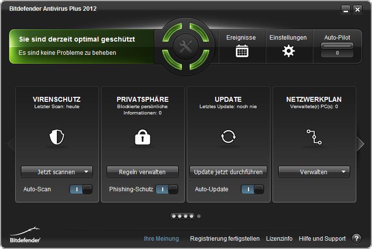 Screenshot vom Programm: Bitdefender Antivirus Plus