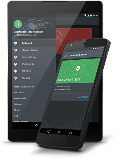 Compare Internet Providers >> Bitdefender Mobile Security for Android Devices
