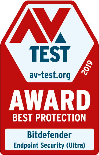 AV Test 2019  award for the best endpoint security.