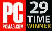 PC MAG -  29 TIMES WINNER