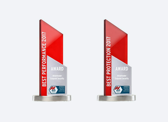 Bitdefender cybersecurity solutions - Awards