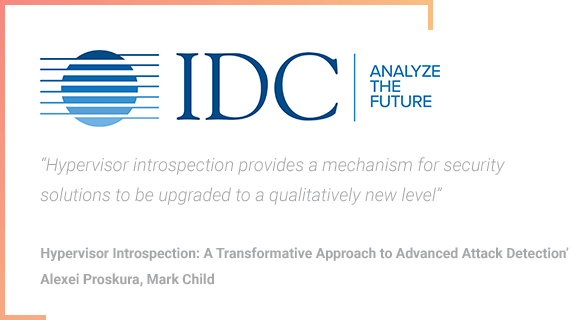 IDC - Hypervisor Introspection for Advanced Cyber Attacks Detection