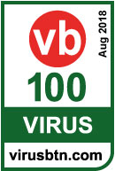 Vb100-certificatie van Virus bulletin, augustus 2018