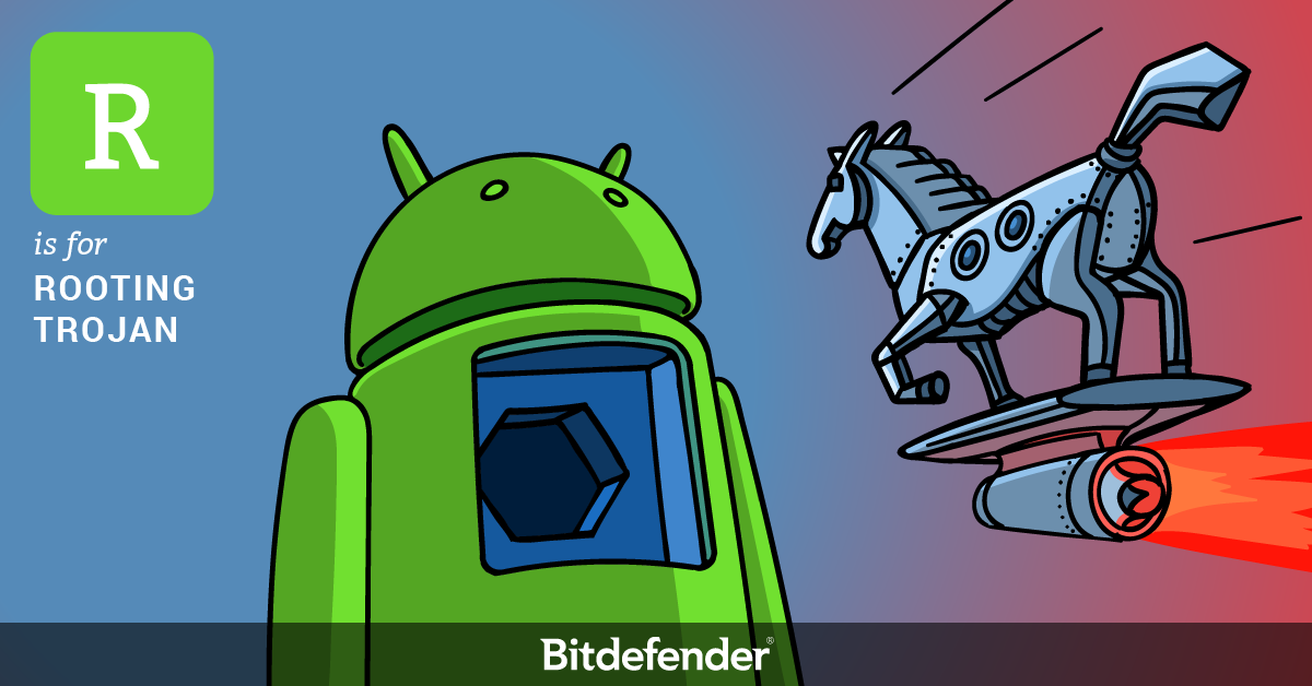 Bitdefender ABC of Cybersecurity - R is for Rooting Trojan