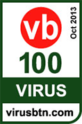 Vbspam VB100-certificatie van Virus bulletin, 2013