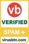 Vbspam+ certificatie van Virus bulletin - jan 2016